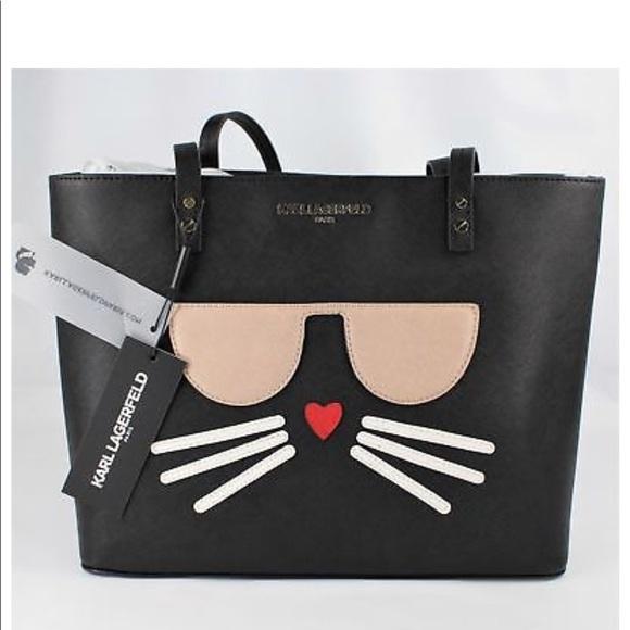 Karl Lagerfeld Bags Cool Black Cat Tote Bag Shopper Poshmark
